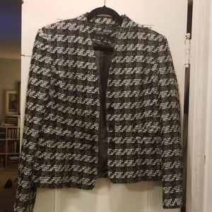 Jones NY Blazer Sz 10 Boucle w/ silver thread